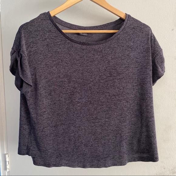 Sparkle & Fade Tops - SPARKLE & FADE Loose Fit Short Sleeve Crop Top